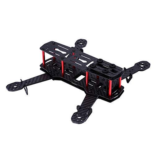 Tonysa Drone Frame Kit con Tornillos, 2Types X-Structure 250MM Quadcopter Drone Frame Kit RC Accesorio para QAV250 FPV Race Drone/Mini 4 Ejes FPV Drone(Fibra de Carbon)