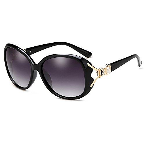 LQABW Lunettes De Soleil Pour Femmes Tone Classical Polarized Metal Sunglasses UV Protection,E