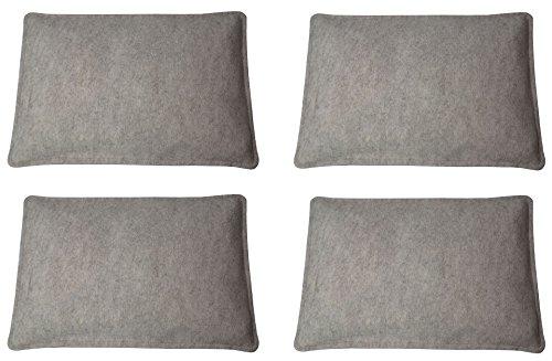 Filz-Kult Sitzkissen für Bierzeltgarnitur, 4 Stück, beige-meliert, Bierbank-Auflage, Filz-Kissen, Bank-Polster, Garten