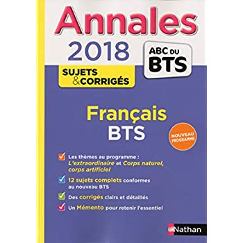 Annales ABC du BTS Français, BTS Tertiaires et Industriels 2018 (31)