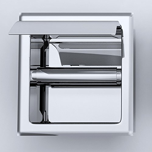 Design Toilettenpapierhalter Cubito32A, Unterputz, Edel Verchromt