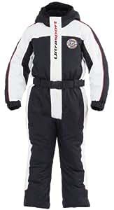 Ultrasport Combinaison de ski pour enfant Lech Noir weiß/schwarz/rot 92/98