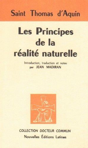 Les principes de la réalité naturelle par Saint Thomas d'Aquin