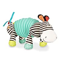 B. toys - B. Snugglies Squeezy Zeeby - Musical Accordion Zebra Plush - Sensory Toys - 100% Non-Toxic and BPA-Free