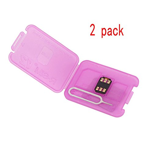 Tracffy RSIM 12 R-SIM Nano Entsperren Karte, R-SIM 12 Smart 4G Karte Entsperren Karte Adapter Konverter Kits mit Tools Für IPhoneX 8 P 8 7 P 7 6 SP 6 P 6 S 6 5C 5 S 5 (2 packs)