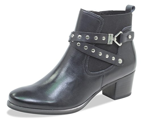 Caprice Damen 9-9-25322-21 022 Chelsea Boots, Schwarz (Black Nappa 22), 38.5 EU