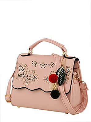 Mark & Keith Women Pink Handbag(MBG 0539 LPK)