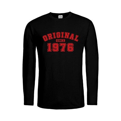 dress-puntos Herren Langarm T-Shirt Original since 1976 20drpt15-mtls01273-18 -