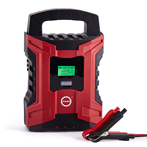 AKM Batterie Ladegerät 6V/12V 10A Winterlademodus,Aktualisierte Version LED-Batteriespannungs- und Ladefortschrittsanzeige für KFZ PKW Auto Motorrad