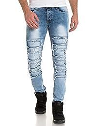 BLZ jeans - Jeans slim bleu délavé déchiré