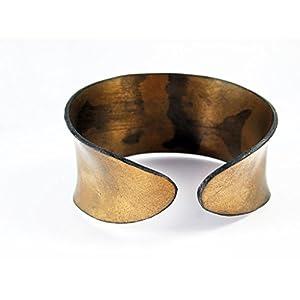 Armreif aus Schallplatte – gold // 3 Größen