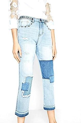 DESIGUAL - Femme ankle skinny fit jeans olga 72d2ja0 w34 denim clair
