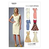 Vogue V8972 A5 6/ 8/ 10/ 12/ 14 - Cartamodelli per abiti da donna, multicolore