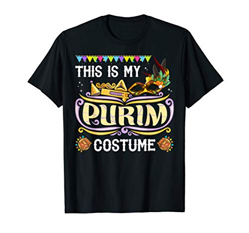 Purim Kostüm Jüdische - Dies ist mein Purim Kostüm T-Shirt jüdischen Feiertag Purim T-Shirt