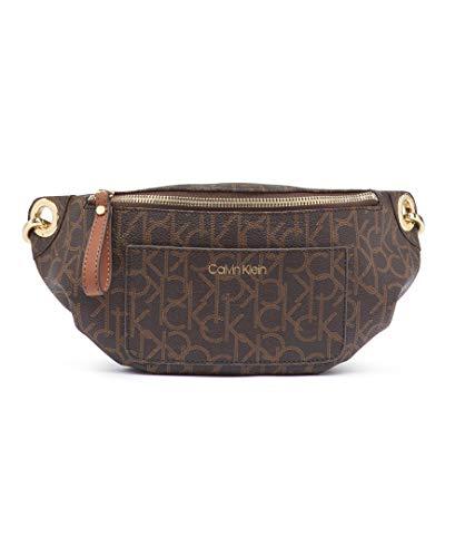 Calvin Klein Damen Monogram Belt Bag Sonoma Signatur Monogramm Gürteltasche, Brown/Khaki/Luggage Saffiano, Einheitsgröße Calvin Klein Khaki