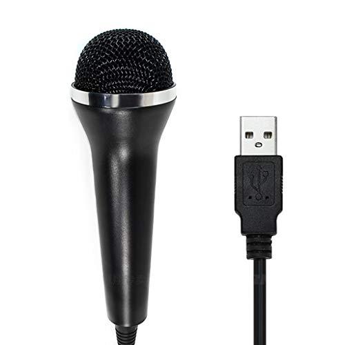 YFish Micrófono USB Universal para Nintendo Wii, Xbox One, PS4, PC, 2M Cable Micrófono soporta LA Voz, Let's Sing, Sing Party, Rock Band, Guitar Hero, Sing Star