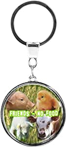 """Quality and shiny keychain in a round shape """"Livestock"""""""