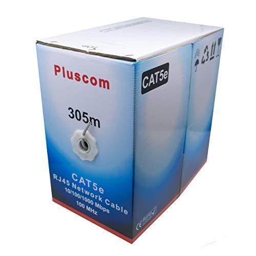 I-CHOOSE LIMITED 305m Metre Cat5e AWG24 Ethernet LAN UTP Rollen Sie Bulk CCA Kabel / 1000ft Vernetzung/Grau (Rj45-stecker Bulk)