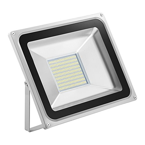 Foco LED 100W, 10000LM Blanco Frío 6000K, Reflector Foco Proyector LED Exteriores...