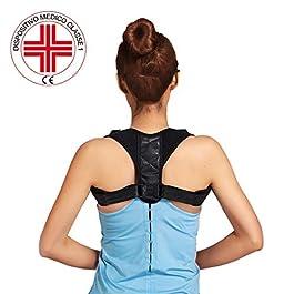 Correttore Postura Uomo Donna, DISP. MEDICO CE, Fascia Posturale Spalle e Schiena Traspirante Regolabile, Supporto per…