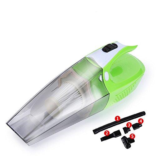 Aspirador Para El Hogar, Alta Potencia Con Succión Más Fuerte, Aspiradora Portátil De Mano Mojado Seco Para El Polvo Del Pelo De La Mascota Limpieza Del Automóvil, Carga USB Toma La Luz LED,Green