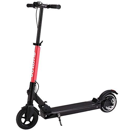 Euroton - Elektro Scooter Roller per Fußsteuerung, E Scooter Klappbar, Bequemerer 8 Zoll Vakuumreifen, Scheibenbremse, 250W Motor Lithium Batterie 7.8AH bis zu 30km Reichweite (Rot)
