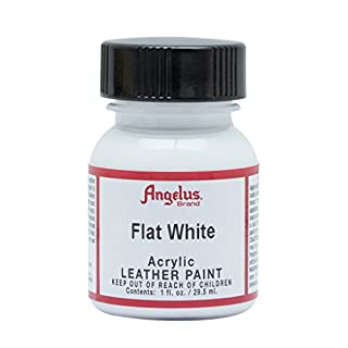 Angelus Brand Acrylic Leather Paint - Flat White - 1oz