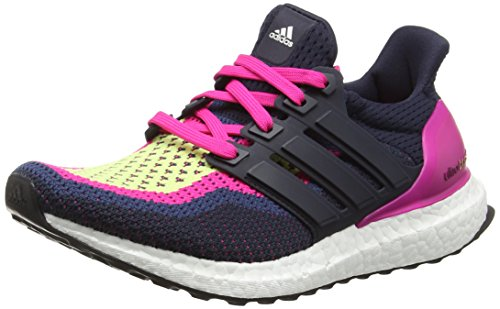 adidas Ultra Boost - Zapatillas de Running Mujer, Multicolor (Night Navy/Night Navy/Eqt Pink), 38 2/3 EU