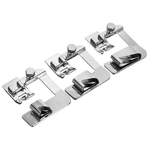MYAMIA 3pcs 4/8 6/8 1 inch gerollt Saum Fuß Set Haus Nähmaschine Hemmer Presser Maschinen Teile - Hemmer Maschine