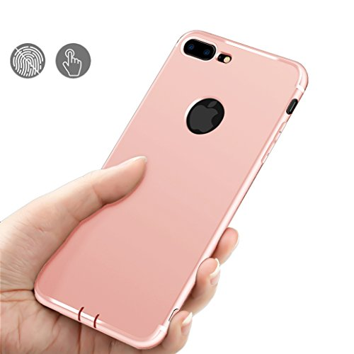 Custodia iPhone 7, Yoowei® iPhone 7 Cover Alta Qualità Estremamente Sottile Morbido TPU Gel Case Cover Anti-Graffio Antiurto per iPhone 7 4.7, Rosso Pink