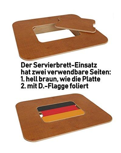 Original BestLoft® Tischaufsatz für Bierkasten – Stehtisch Partytisch Bistrotisch Tischaufsatz 70x58cm (Aufsatz+Servierbrett) - 2