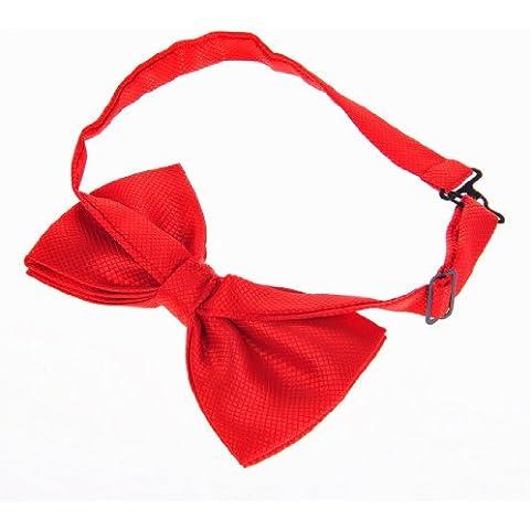Pañuelo de seda smoking cuello pajarita Topwedding High-End varonil con mancuernas? Rojo