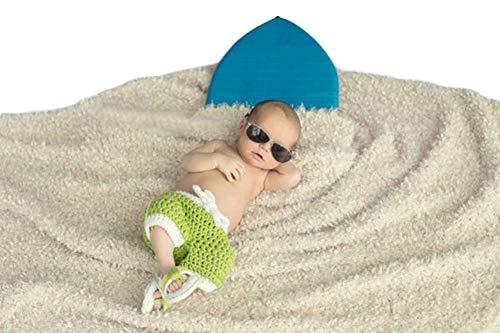 Kostüm Sonnenschein Baby - Neugeborenes Baby Mädchen häkeln Kostüm Outfits Fotografie Requisiten Zwillinge Sonnenschein Sand Hose+Slipper 0-6 Monate