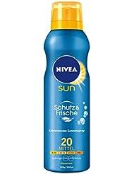 NIVEA SUN Transparentes Sonnenspray, Lichtschutzfaktor 20, 200 ml Spraydose, Schutz & Frische