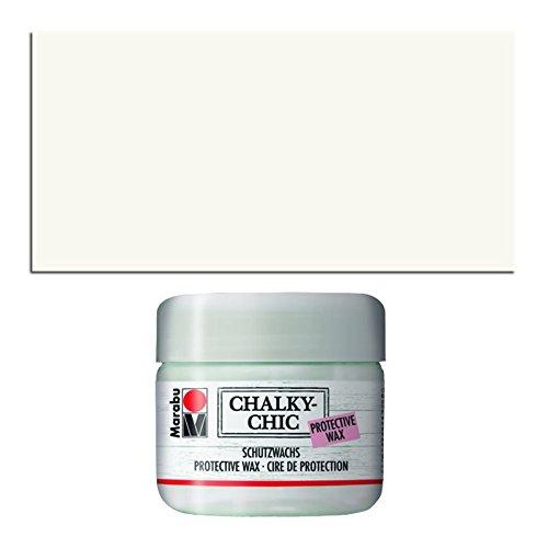 CREATIV DISCOUNT NEU Chalky-Chic Schutzwachs, 225 ml, Patina Weiß