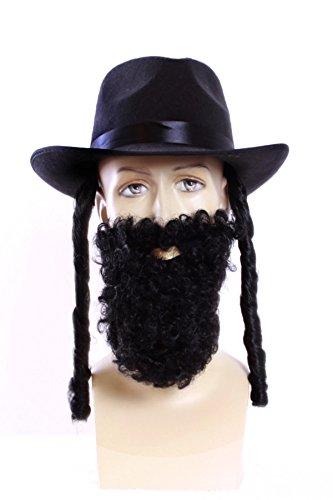 TH-MP Rabbiner Set Rabbi Hut und - Rabbi Hut Kostüm