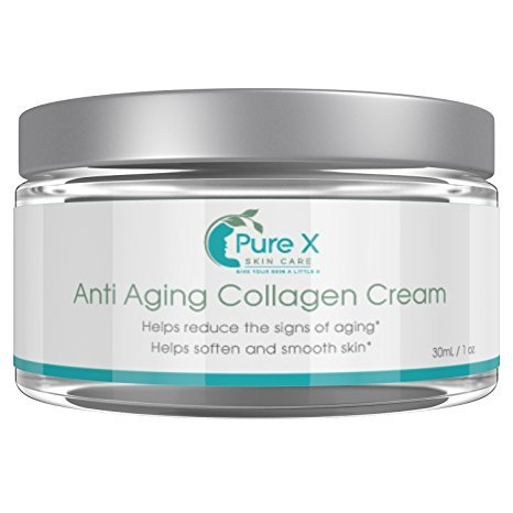 Anti Aging Collagen Cream Daily Skin Care Wrinkle Treatment Essential Face Moisturizer Pure Rejuvenating Skin Day and Night Best for Women and Men of All Skin Types Regenerating Skin Elasticity 1oz