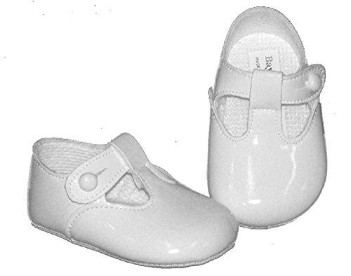 Mellow Be , Baby Jungen Lauflernschuhe schwarz schwarzer lack 0-3 Monate weiße Lacklederoptik