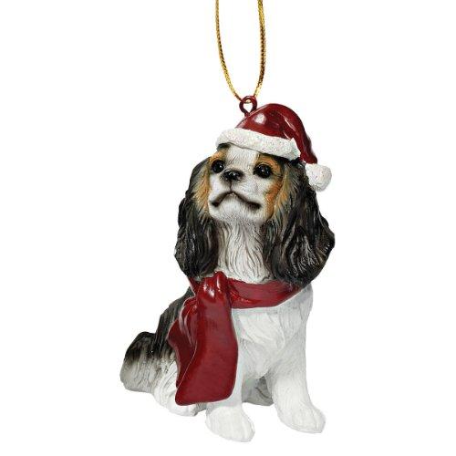 Design Toscano JH576321 Décorations de Noël - Noël Roi Charles Cavaliers Ornements chiens de vacances
