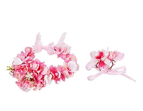 Sea views Fleurs série des Demoiselles d'honneur Garland des Enfants Coiffure corolle mariée Robes de mariée couronnes/Accessoires Robe de mariée Guirlande, Bracelet