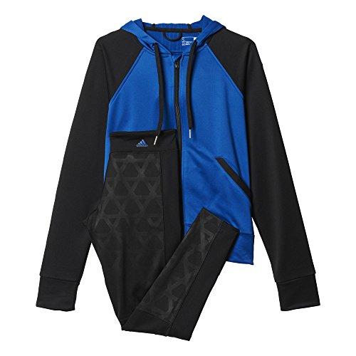 adidas Damen Trainingsanzug Tighthoody Suit, Blau/Schwarz, M, 4055343958163