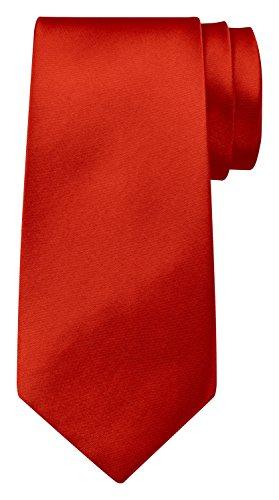 BomGuard Krawatte einfarbig 8 cm breit in Rot
