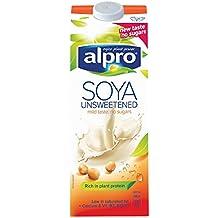 Alpro soja Lácteos Wholebean Longlife Leche Alternativa 1L (Pack de 8 x ...