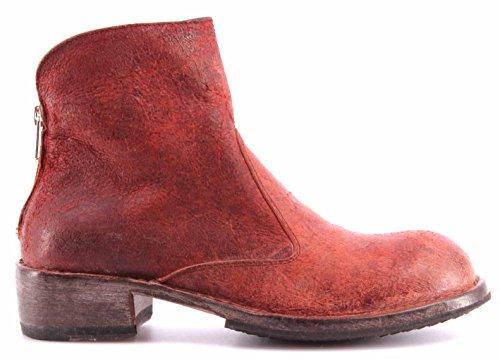 Moma Chaussures Femme Bottines Ankle Boots Vari D Pelle Crosta Rossa Vintage ITA
