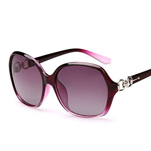 Yananhome da sole occhiali sportivi occhiali da sole femminili occhiali da vista grandi occhiali da sole eleganti occhiali da sole polarizzati che guidano gli occhiali da sole (color : purple)