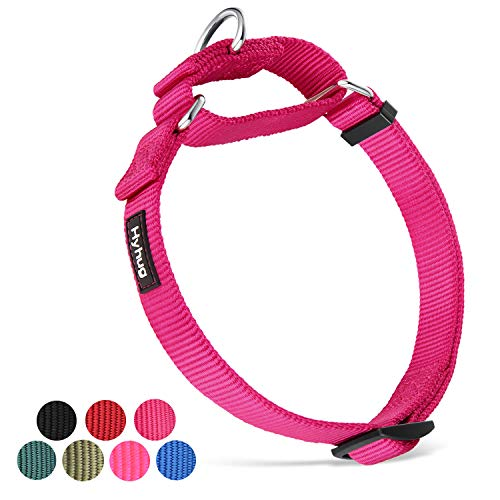 Hyhug Martingale Small Pup Boy e Girl Dog Collar Non Resistenti alla Fuga - Walking Training Daily Use. (Piccola S, Rosa Rossa)