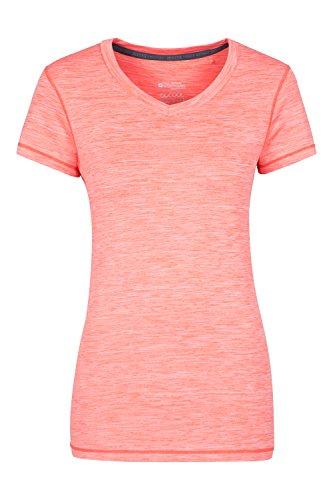 Mountain Warehouse Panna Damen Melange Oberteil Sport T-Shirt atmungsaktiv Base Layer Funktionsshirt laufen fitness gym Koralle DE 38 (EU 40)