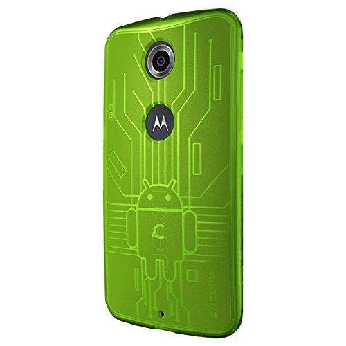 CruzerLite Nexus6-Circuit-Green Bugdroid Schluss Schutzhülle für Motorola Nexus 6 grün