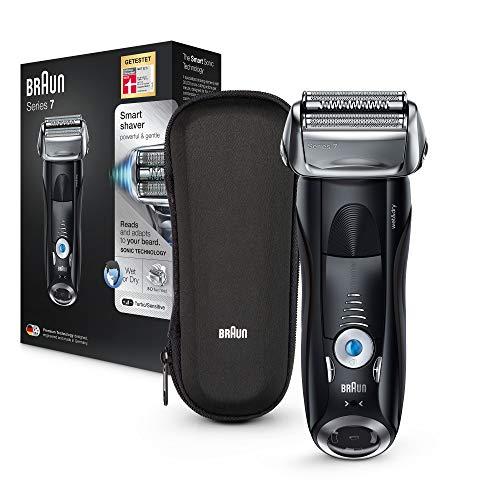 Braun Series 7 7842s Elektrorasierer, Wet und Dry-Funktion, mit Reise-Etui, schwarz