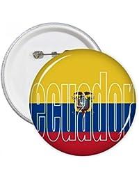 DIYthinker Regalo Botón Ecuador Bandera de País Nombre pernos redondos Placa Ropa decoración 5pcs…